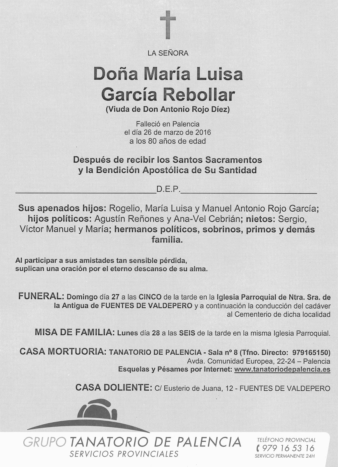 MARIA LUISA GARCIA REBOLLAR